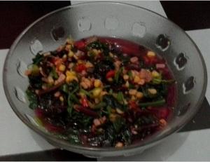 Sayur Bayam Merah dan Jagung