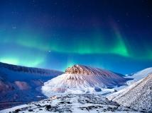 aurora mountains norway