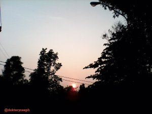 matahari pagi di salatiga